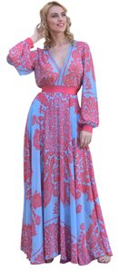 Pink Maxi Dress by ZEMA Chiffon Maxi
