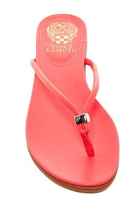 Vince Camuto Elley Flourescent Red Flip-flop Thong BRIGTH PINK Flats
