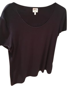 Armani Collezioni Scoop Neck T Shirt Black