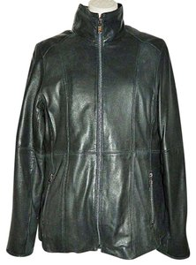 Andrew Marc Leather Scuba Zip Out Lining Leather Jacket