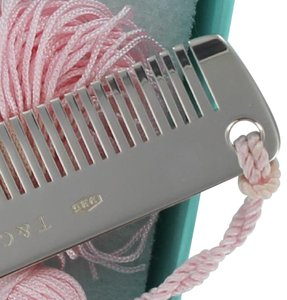 Tiffany & Co. Rare TIFFANY & CO. Sterling Silver ROSE (pink) Tassel Baby Comb