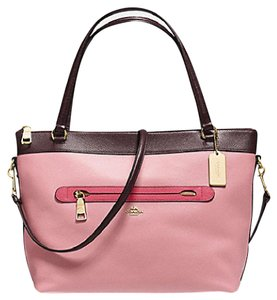 Coach Cora Domed Border Studed 37238 Satchel in oxblood strawberry