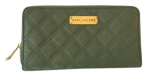 Marc Jacobs Marc Jacobs Green Quilted Leather Zip Around Continental Wallet