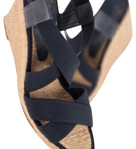 Andre Assous Blue Wedges
