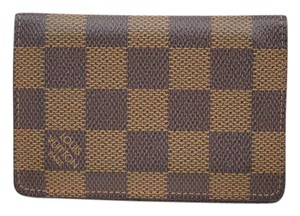 Louis Vuitton Thin Wallet Card Case Browns Damier 149557