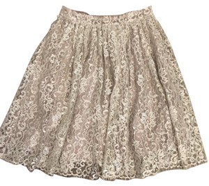 Anthropologie Skirt Taupe/mauve with silver accents