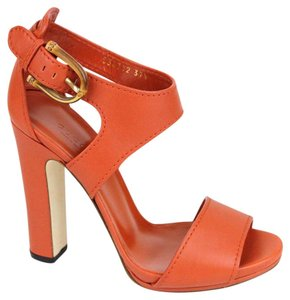 Gucci Lifford Leather Platform New Rust Sandals
