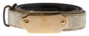Gucci Gucci Women's Beige Leather Belt, Size 38 (35072)
