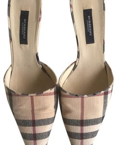 Burberry Beige , Black, Brown pattern Mules