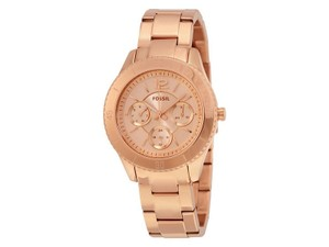 Fossil AM4611 Cecile Women's Rose Gold Metal Bracelet With Rose Analog Dial