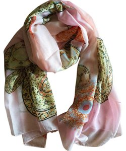 Other Multicolor Pink Printed Scarf