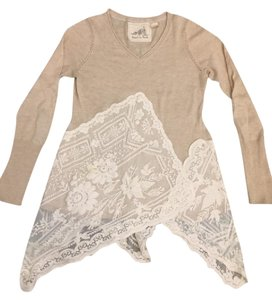 Anthropologie Lace Light Sweater