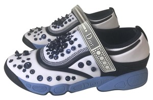 Dior Sneakers Fusion Trainer 38.5 Blue and White Athletic