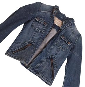 Abercrombie & Fitch blue Womens Jean Jacket