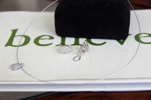Other SALE 14K WG SET OF Diamond Pear Shape Earring and Necklace Was $750