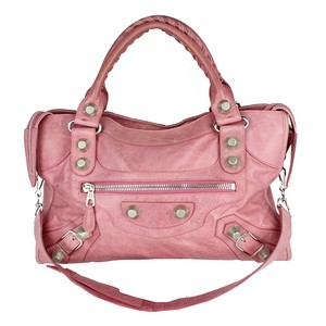 Balenciaga Giant City Tote in pink