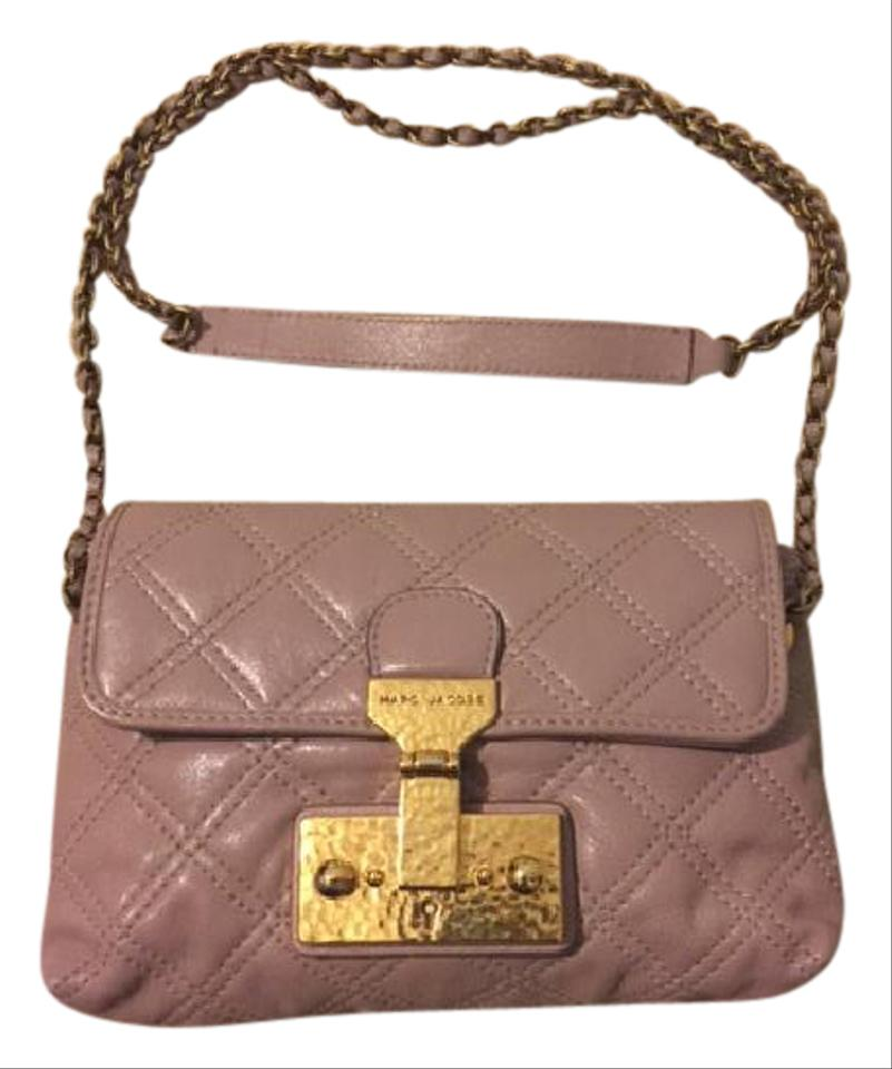 acc254c8128 Marc Jacobs The Single Quilted Flap Shoulder Lavender Leather Cross ...