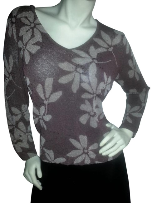 Jones New York Sheer Embellished Sweater Image 0
