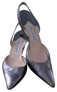 Manolo Blahnik Metallic/gray Pumps