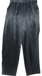 Peters & Ashley Shiny Evening Work Tailored Classic Trouser Pants black