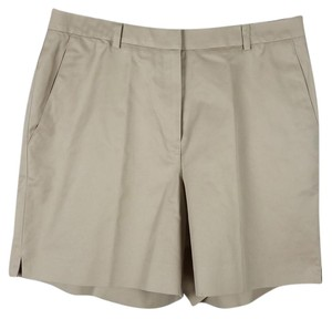 Brooks Brothers Flat Front Size 12 Dress Shorts beige