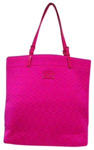 Michael Kors Bright Neon Casual Tote in Lacquer Pink