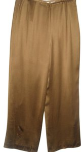 Talbots Chocolate Shiny Traditional Office Classic Trouser Pants brown