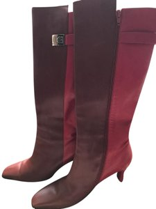 Salvatore Ferragamo Red and brown Boots