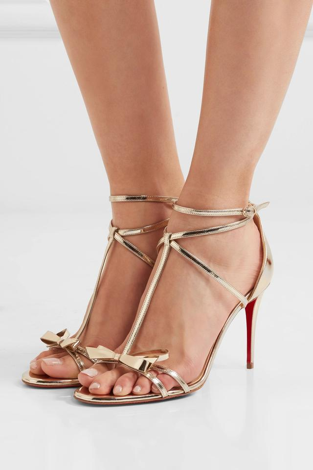 free shipping c3f44 eacb7 Christian Louboutin Gold New Blakissima 85mm Leather Sandals Size US 8.5  Regular (M, B) 17% off retail