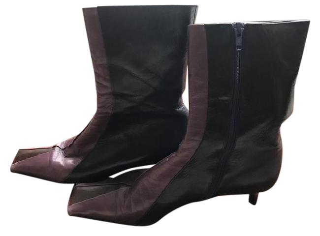 Item - Lavender and Black Boots/Booties Size US 7.5 Narrow (Aa, N)