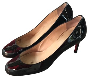 Christian Louboutin Patent Leather Red Sole Louboutin Simple Black Pumps