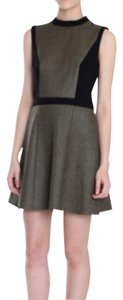 Tibi short dress green Fit And Flare Mod Color-blocking Mini on Tradesy