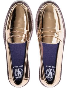 Cole Haan Loafer Pinch Campus Penny Leather Gold Flats