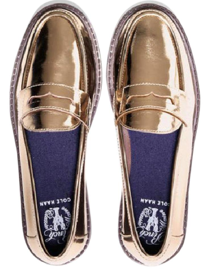 ffd3595f792 Cole Haan Gold Women s Pinch Campus Penny Loafer New Without Box ...