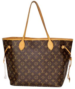 Louis Vuitton Neverfull Mm Leather Neverfull Weekend Travel Tote in Monogram