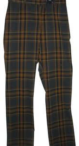 Elements G Straight Casual Sporty Career Trendy Boot Cut Pants plaid