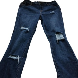 Old Navy Straight Leg Jeans-Distressed