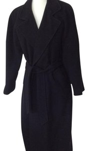 Neiman Marcus Cashmere Long Belt Trench Coat
