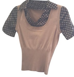 HeartSoul Top light brown and black