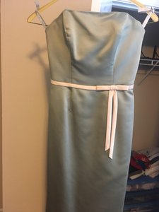 Alfred Angelo Seafoam Green Formal Bridesmaid/Mob Dress Size 6 (S)