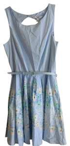 LC Lauren Conrad short dress Light Blue Belted Open Back Spring Floral on Tradesy