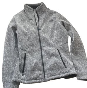 The North Face black/ grey and white Jacket
