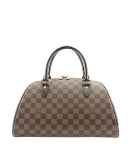 Louis Vuitton Coated Canvas Leather Satchel in Brown