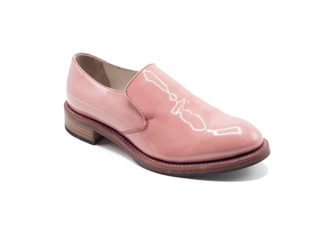 Item - Light Pink Womens Patent Leather Slip Ons Boots/Booties Size US 7 Regular (M, B)