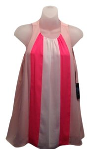 Vince Camuto Top Pink/White