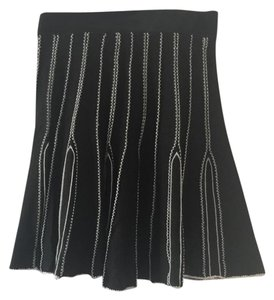 Lux Anthropologie Knit Black/White Skirt Black/white
