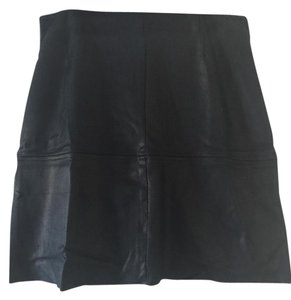 BCNU Bue Suede Mini Skirt Blue