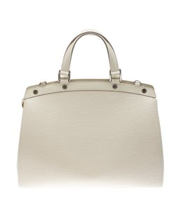Louis Vuitton Lv Leather Epi Satchel in Cream