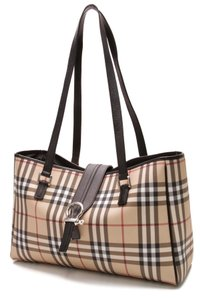 Burberry Tote in Nova Check (Beige/Black/Red)