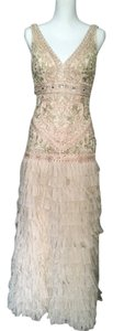 Sue Wong Sue Wong Feather Flutter Skirt Embellished 1920s Gatzby Gown Wedding Dress
